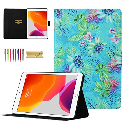 iPad 10.2 Case 2019, Dteck Lightweight Slim Shell Folio Stand Premium PU Leather Case with Auto Sleep/Wake Protective Smart Cover for Apple iPad 7th Generation/iPad Pro 10.5 2019 2017, Plants