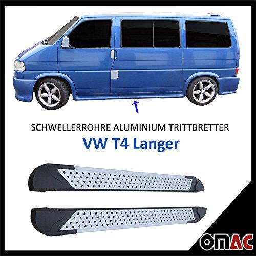 Schwellerrohre Alu Trittbretter für T4 Langer Radstand Almond (253)