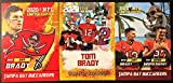 Tom Brady Football Card Lot - 2000 Rookie Gems Gold Ice- 2020 Rookie Gems Tampa Bay Buccaneers - 2020 Tom Brady, Rob Gronkowski Together Again (Custom Made N... rookie card picture
