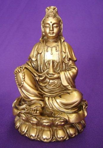 Bronze assis Kwan Yin