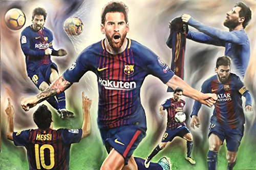 NYAP Lio Messi - Lionel Messi Barcelona FC Poster 24in x 36in Collage