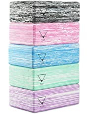 Base yoga Yoga Block - 1 of 2 stuks - Unieke sterk/stevig/licht Eva-schuimblok/baksteen