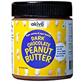 Dark Chocolate Peanut Butter, 500 Grams - High Protein, No Added Sugar, Low Carb, Gluten-Free and Keto Friendly Diet - Superior Tasting Premium Chocolate Spread by Akiva Superfoods