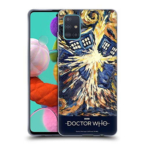 Head Case Designs Offizielle Doctor Who Van Gogh Tardis Klassische Panne Poster Soft Gel Huelle kompatibel mit Samsung Galaxy A51 (2019)