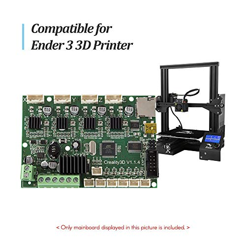 HUANRUOBAIHUO 3D Printer Accessory Mainboard moederbord vervanging Control Board 24V met USB-poort Vermogen Chip for Ender 3 3D Printer Parts (Size : For Ender 3)