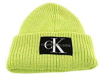 Calvin Klein CKJ Monogram Beanie Acid Lime