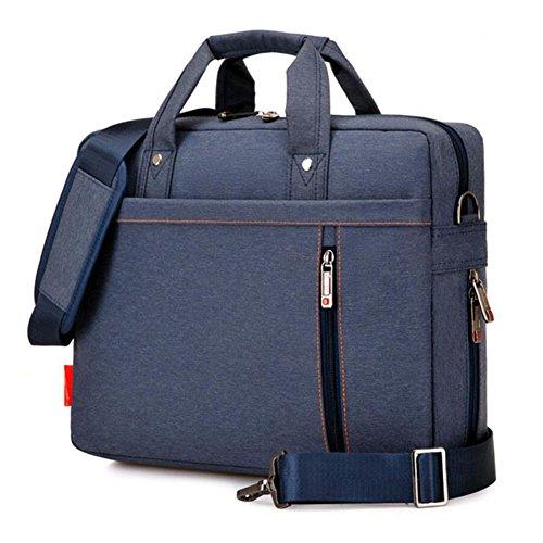"SNOW WI 15.6"" Expandable Laptop Shoulder Bag for MacBook,Acer,Asus,Dell(Blue)"