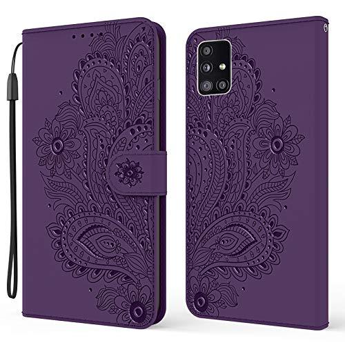 Hülle für Galaxy A71 5G Hülle Handyhülle [Standfunktion] [Kartenfach] Schutzhülle lederhülle klapphülle für Samsung Galaxy A71 5G - DEYX010181 Violett