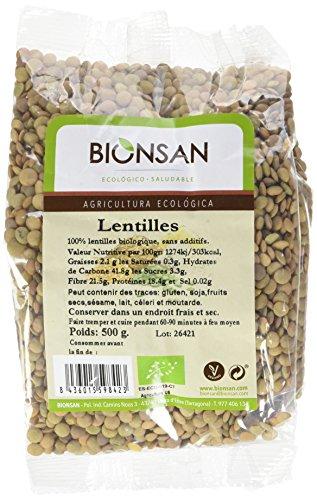 Bionsan - Lentilles de Culture Biologique | 6 Paquets de 500 gr | Total : 3000 gr