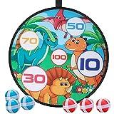 E-More Juego de Tablero de Dardos, Juego para niños Dart Board con 6 Bolas, Disco de Juego de Lanzamiento de Dardos para jóvenes y Viejos de Juego Interior al Aire Libre, 71cm/28inches