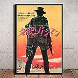 crjzty DIY Pintar por números Pintura al óleo literaria Classic Movie Series Cowboy Movie Art Poster Canvas Painting Home Decor Posters and Prints-x_CM_Unframed_
