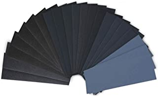 28 Pcs 120 to 3000 Grit Wet Dry Sandpaper Assortment 9 3.6 Inches for Automotive Sanding