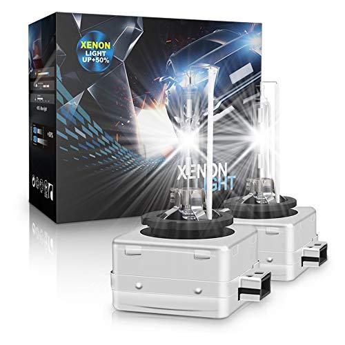 D1S Xenón Bombilla Auto HID Lámpara 35W 6000K, Paquete de 2