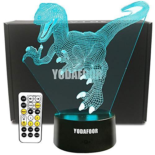 YODAFOOR Dinosaur Night Light Lamp Dinosaur Toy Gifts for Boys Teen Kids Birthday Halloween Nurcery Decor Lamp Bedroom Table Decoration (Dinosaur01)