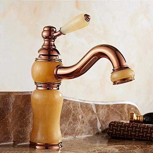 Keukenkraan, badkamerwastafel Vintage Rose Gold Luxe Kraan Retro Basin Kraan A27