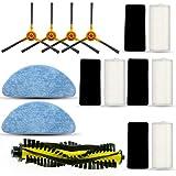 15Pcs/Set Filter Side Brush Mop Cloth for Tesvor X500 Robot Vacuum Cleaner Parts