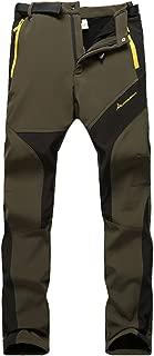 MorryOddy Women's Outdoor Waterproof Softshell Fleece Snow Pants