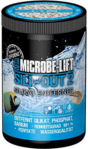 MICROBE-LIFT Sili-Out 2 - Silikatentferner auf Aluminium-Basis für jedes Meerwasser- & Süßwasseraquarium, 500ml / 360g