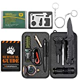 WORSPODAY Gifts for Men Dad Husband Grandpa - Survival Kit 16 in 1 - Fishing Camping Hunting Hiking Gifts Ideas for Him Boyfriend Brother Teen Boy - Cool Gadget Stocking Stuffer Survival Gear