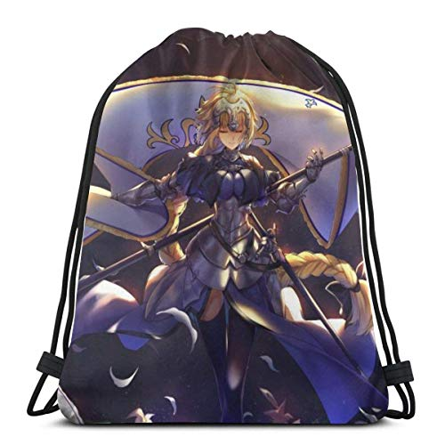 QiangQ Bolso con cordón Drawstring Bag Sport Gym Sack Party Favor Bags Wrapping Gift Bag Drawstring Backpack Storage Goodie Bags Cinch Bags - Fate Apocrypha Jeanne D'arc
