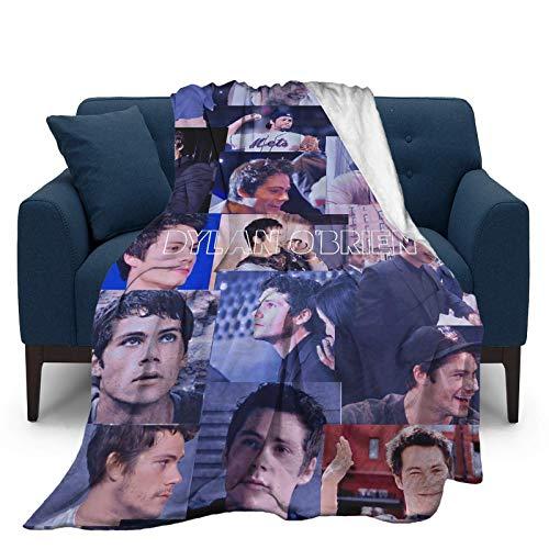 Dylan Obrien Ultraweiche Micro-Fleece-Überwurf-Decken für Zuhause, Couch, Bett, Sofa, gemütlich, warm, 3D-gedruckte Decke für Kinder und Erwachsene, 127,7 x 101,6 cm