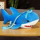 BAIMENGLONG Juguete Suave tierno 50 Cm Estilo Lindo Peluche Tiburón Tiburón Relleno Suave Simulación Tiburón Almohada para Cumpleaños (Color : Blue, Height : 50cm)