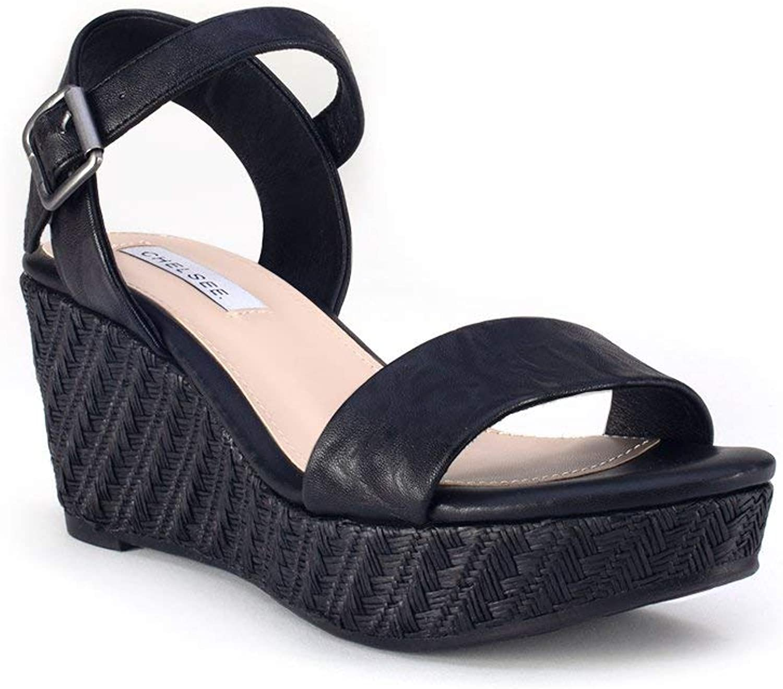 Yellow shoes - Palmas - Women's Wedge Sandals
