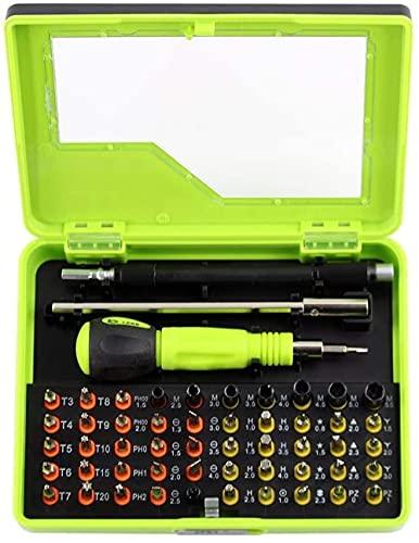 Doble 53 en 1 Multi-Posición Servicio Extensión Rod Acero Destornillador Kit de Herramientas, Juego de Destornilladores, con Caja de Almacenamiento Electrónica PC Portátil