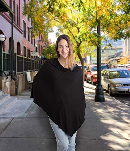 Little Me Nursing Shawl, Black, Nursing Covers Breastfeeding Cover