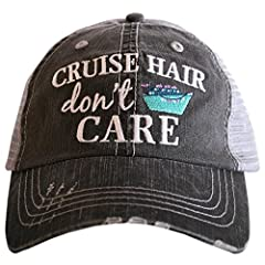 PERFECT CRUISE SHIP ACCESSORY: The high quality curved bill design will keep the sun out of your eyes so you can enjoy your time on the deck! ONE OF A KIND STYLE: Fully embroidered, high visibility, distressed design that can be paired with any outfi...