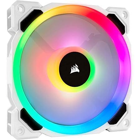 Corsair LL120, LL Series, 120mm Dual Light Loop RGB LED, PWM, à flux d'air élevé Ventilateur (Pack Individuel) - Blanc