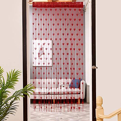 HLIYY Rideau Voilage Rideaux,Semi-Transparents Blanc Fil Rideau Rideau Fin Voile,pour Chambre Salon Décoration Chambre Enfants Décoration Rideaux de Tulle