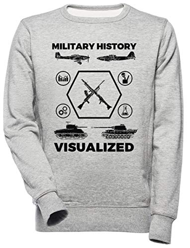 Military History Visualized - Planes, Tanks & Icons Unisex Mannen Dames Trui Sweatshirt Unisex Men's Women's Jumper