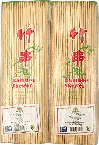 JADE TEMPLE 17196 Bambusspieße für Satay- und Kebap-Gerichte, Bambus,braun 23.5 x 1.5 x 7 cm