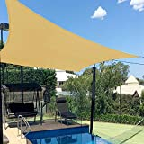 Artpuch 8'X10' Rectangle Sun Shade Sails Sand UV Block for Shelter Canopy Patio Garden Outdoor Facility and Activities