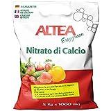 Altea Nitrato di Calcio 5 kg concime granulare azotato per orto e Giardino