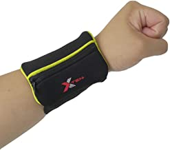 xten Sports Wristband Wallet – Waterproof, Lesport Sweatband with Zipper Pocket in Colors for Running, Walking, Basketball, Cycling, Tennis, Hiking, Cross-Fit & More – Thick & Comfy - Ankle Tracker