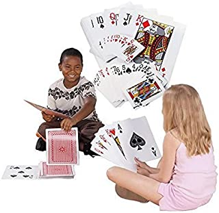 """Super Z Outlet Giant Jumbo Deck of Big Playing Cards Fun Full Poker Game Set - Measures 8-1/4"""" x 11-3/4"""""""