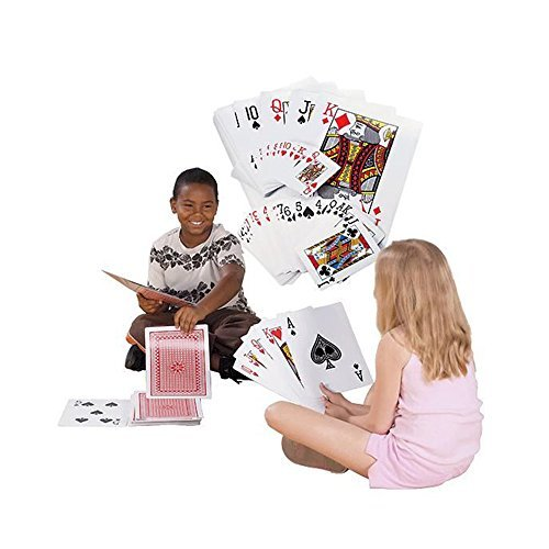 Super Z Outlet Giant Jumbo Deck of Big Playing Cards Fun Full Poker Game Set - Measures 8-1/4