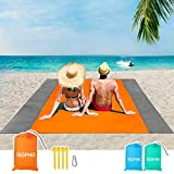 1. ISOPHO Beach Blanket, 79''×83'' Beach Blanket Waterproof Sandproof for 4-7 Adults, Oversized Lightweight Beach Mat, Portable Picnic Blankets, Sand Proof Mat for Travel, Camping, Hiking, Packable w/Bag