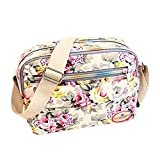 OKAYOU 女性のハンドバッグ印刷キャンバスメッセンジャーバッグショルダーショッパーバッグレディース夏の化粧品バッグクロスボディバッグ