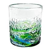 冷茶グラス コップ カップ 琉球ガラス グラス 美ら海デコボコグラス (緑)
