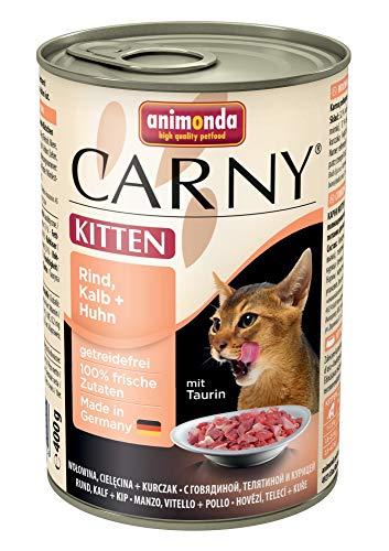 animonda CARNY Kitten con ternero & Gallina | 6x 400g gato Forro húmedo