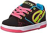 Heelys Propel 2.0 770512, Chaussures roue fille, Black/Neon Multi, 35.5