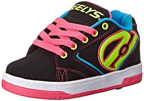 Heelys Zapatillas para Niños, Negro (Black/Neon Multi), 34 EU