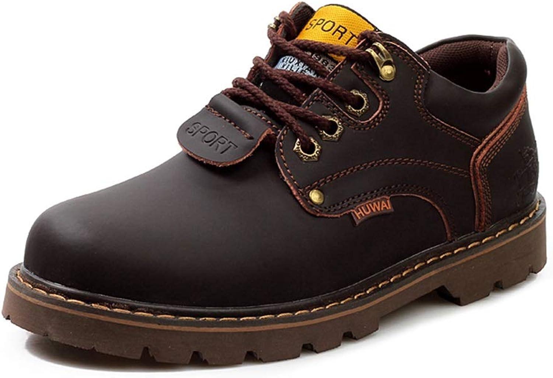 QIDI Martin stövlar Winter män Non -Slip Leisure Wear Resistent Resistent Resistent Booslipss (Färg  bspringaaa, Storlek  US10.5  EU42  UK8.5)  lägsta priserna