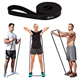 FITSY® Black Resistance Band - Loops | Warm Up and Light Exercise Band 41 Inch - for Mobility, Home Fitness, Sports Training, Speed and Agility Training, Warm Up Workouts