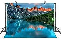 HD10x7ft山の森の湖の写真の背景写真の小道具きれいな自然の風景の背景部屋の壁画XCFU080