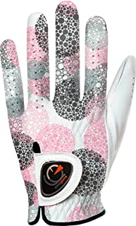 easyglove Spring_Bubble-Purple-W Women's Golf Glove (White)