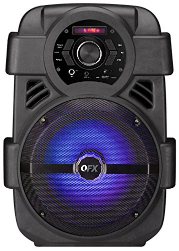 "QFX PBX-8 Rechargeable 8"" Party Sound System - Black"